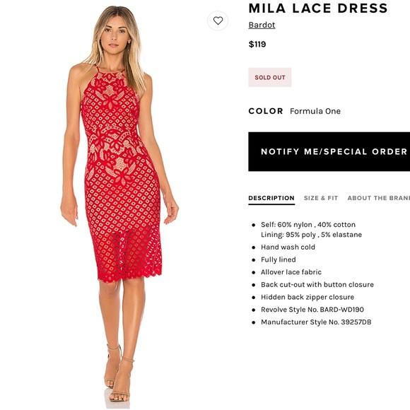 Bardot Dresses   Skirts - Mila Lace Dress 0a083d520